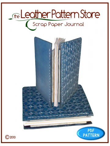 Scrap Paper Journal - leather pattern