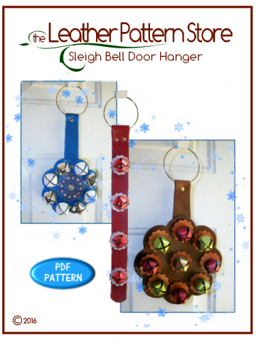 Hanging Sleigh Bells - leathercraft pattern