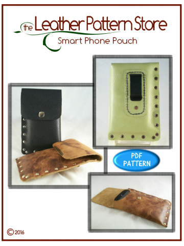 Smart Phone Pouch- leathercraft pattern
