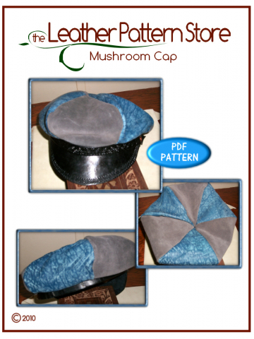 Mushroom Cap - digital leather pattern
