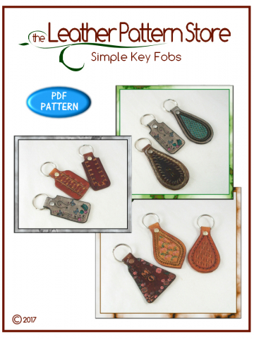 Simple Key Fobs - leather pattern