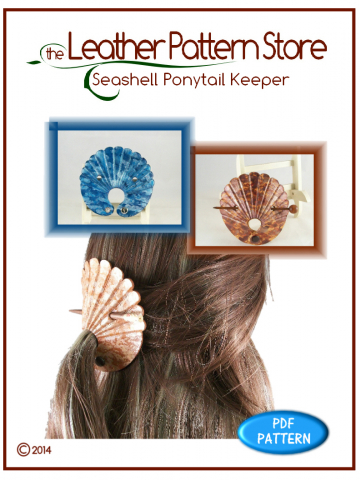Seashell Ponytail Keeper - leathercraft pattern