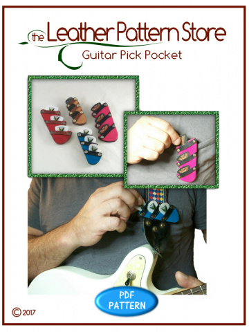 Guitar Pick Pocket - leather pattern