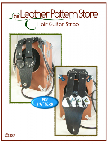 Flair Guitar Strap - leathercraft pattern