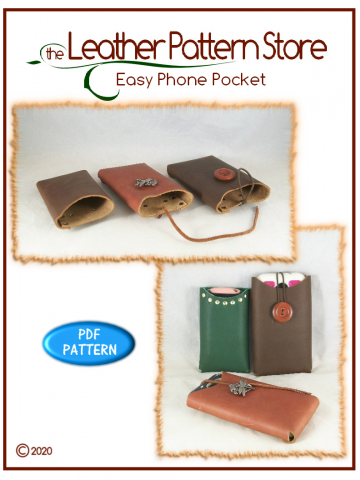 Easy Phone Pocket- digital leathercraft pattern