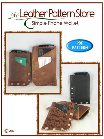 Simple Phone Wallet - leathercraft pattern