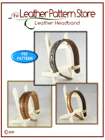 Leather Headband - digital leathercraft pattern