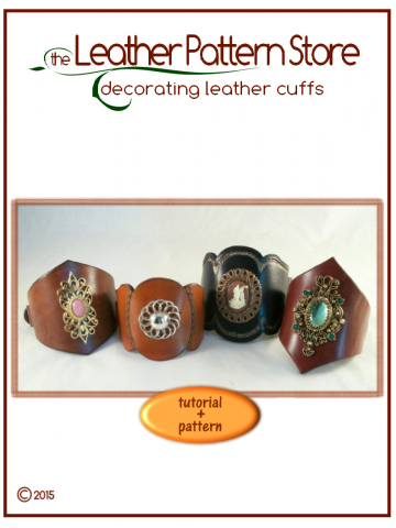 Decorating a Leather Cuff - tutorial plus patterns