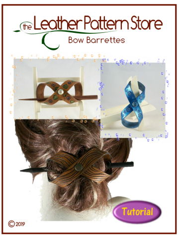 Bow Barrettes - leathercraft Tutorial